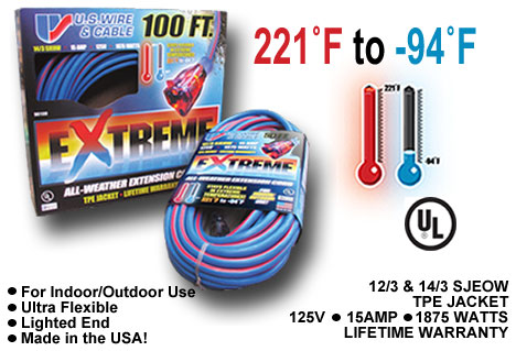 U.S. Wire- Extreme All-Weather Extension Cord